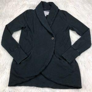 Lucky Brand Terry Knit  Cardigan Sweatshirt